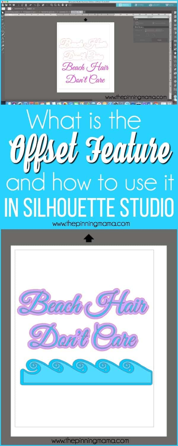 What is the Offset Feature and how to use it in Silhouette Studio.