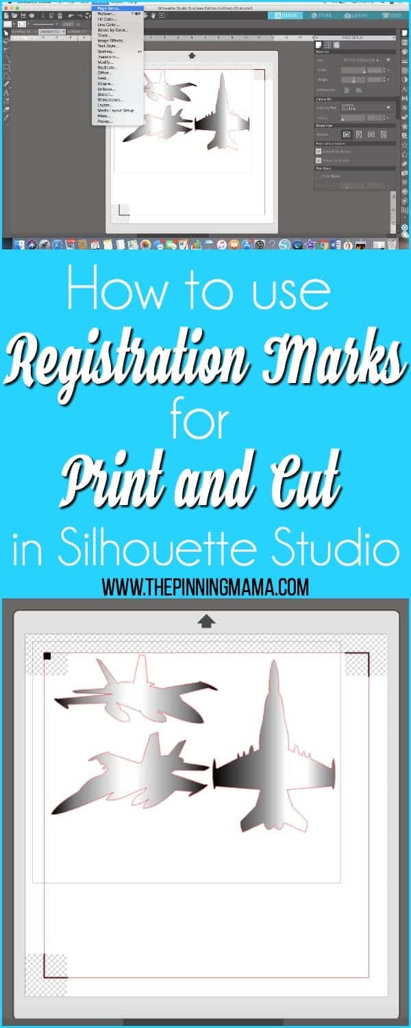How to use Registration Marks for print and cut in Silhouette Studio