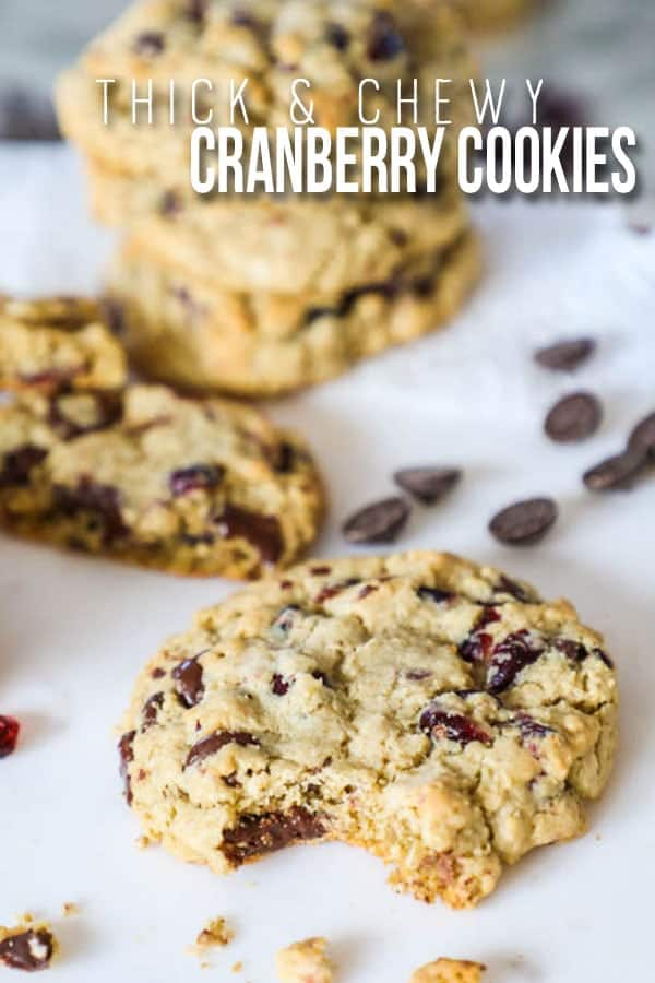 The BEST Oatmeal Cranberry Cookies