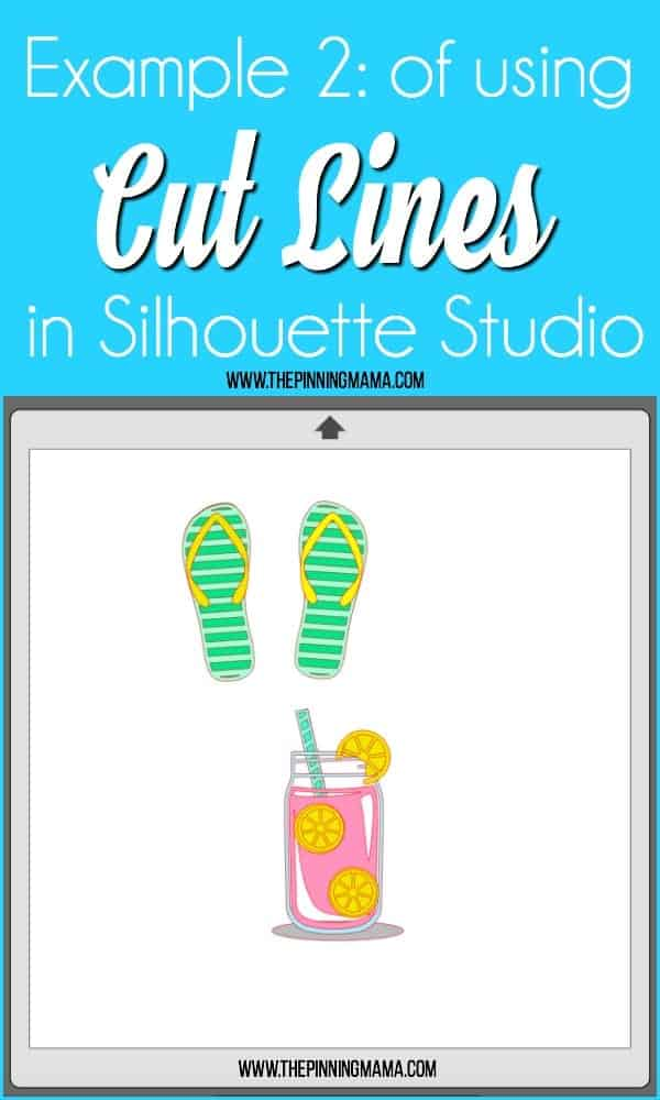 Example of using Cut Lines in Silhouette Studio.