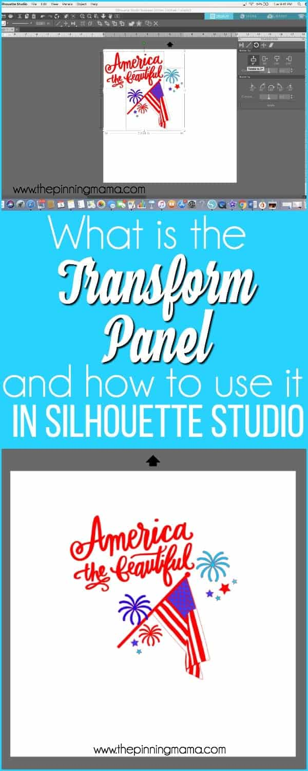 What is the Transform Panel and how to use it in Silhouette Studio.