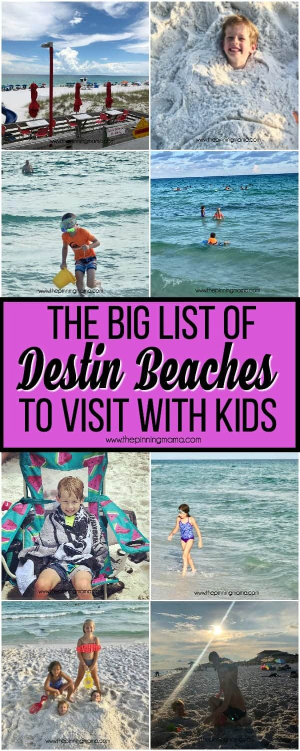 The big list of Destin beaches to visit with Kids.