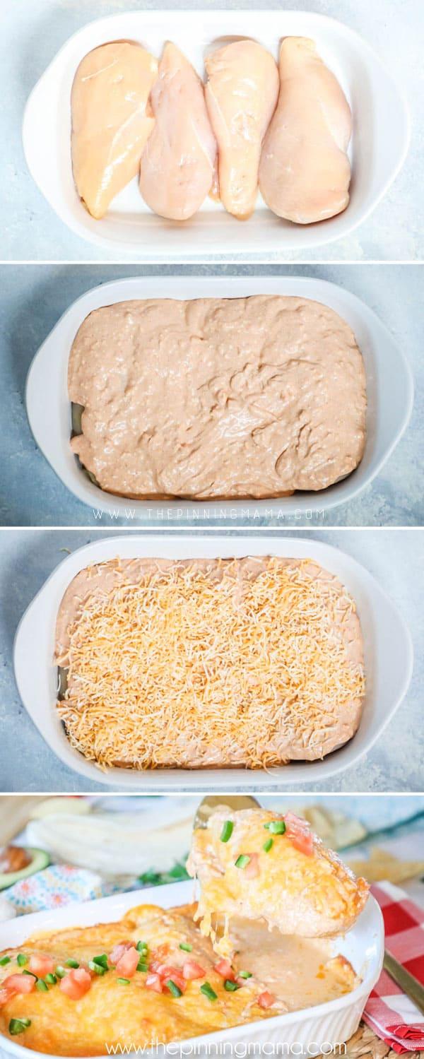 How to Make Chicken Enchilada Casserole