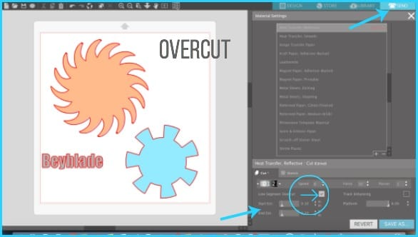 Where to find Overcut in Silhouette Studio.