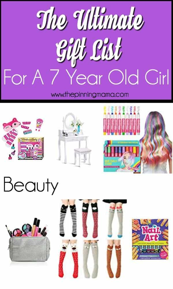 Beauty gift ideas for a 7 year old girl.
