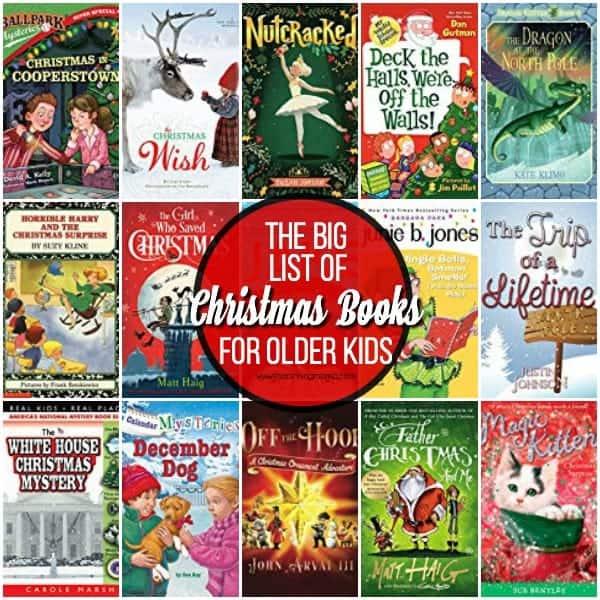 The Big List of Christmas Books for Older Kids.