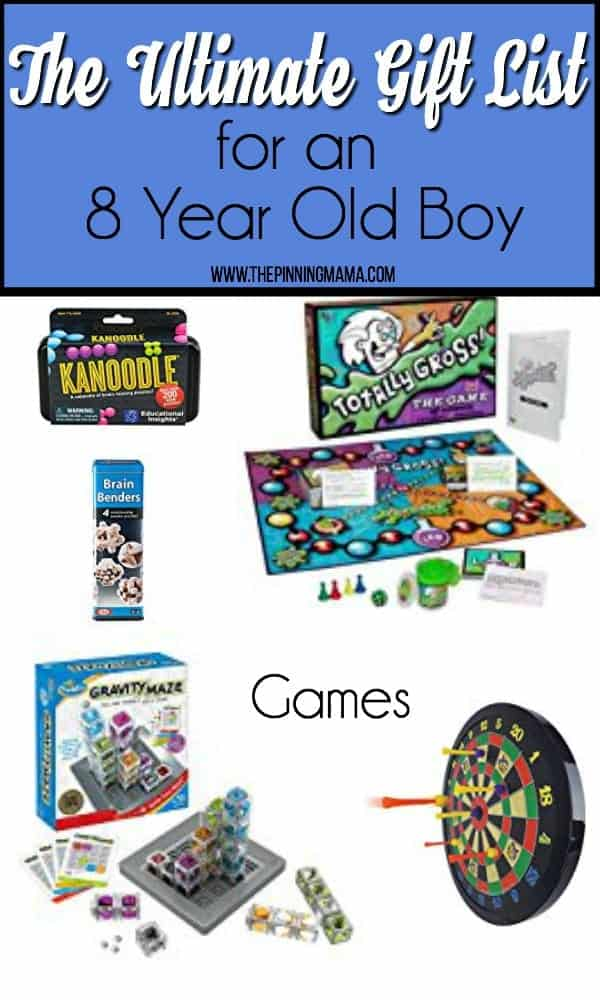 The Ultimate Gift List of Games for an 8 year old boy.