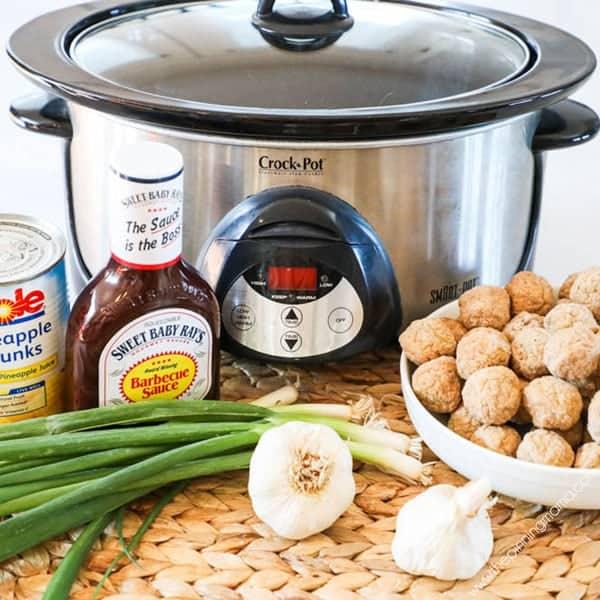 Hawaiian BBQ Meatballs Ingredients