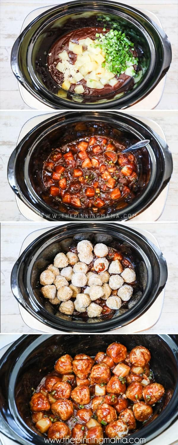 How to Make BBQ Meatballs in a Crockpot- Love this sweet and savory appetizer or meal!