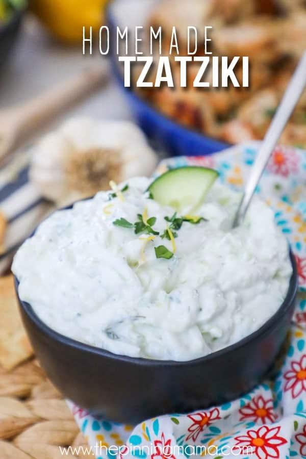 Tzatziki sauce made from Scratch