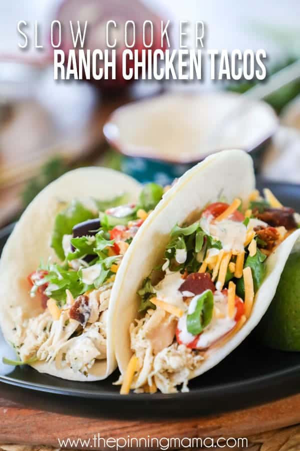 Ranch Chicken Tacos are a so easy to make and super delicious.
