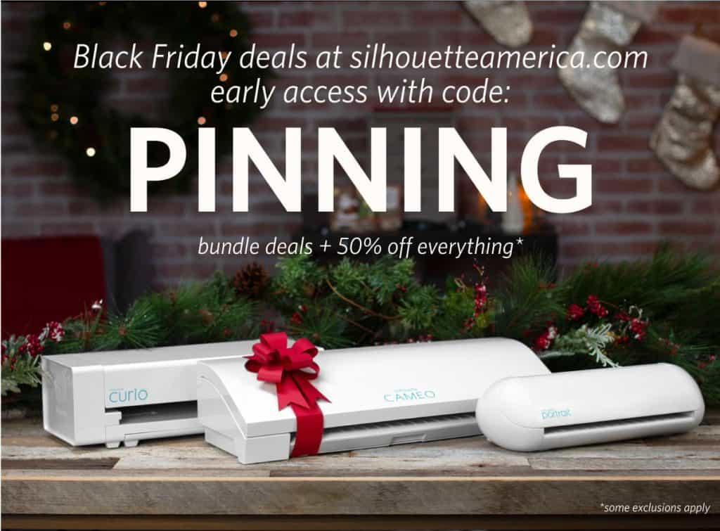 Silhouette CAMEO with bow- Use Coupon Code PINNING for Black Friday deals