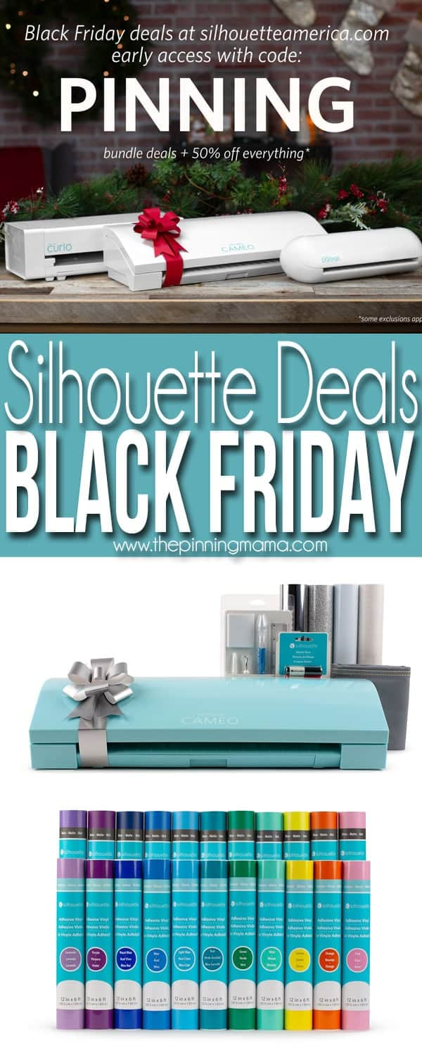 Silhouette Black Friday Sale - Use Coupon Code PINNING for Silhouette CAMEO Machine bundles