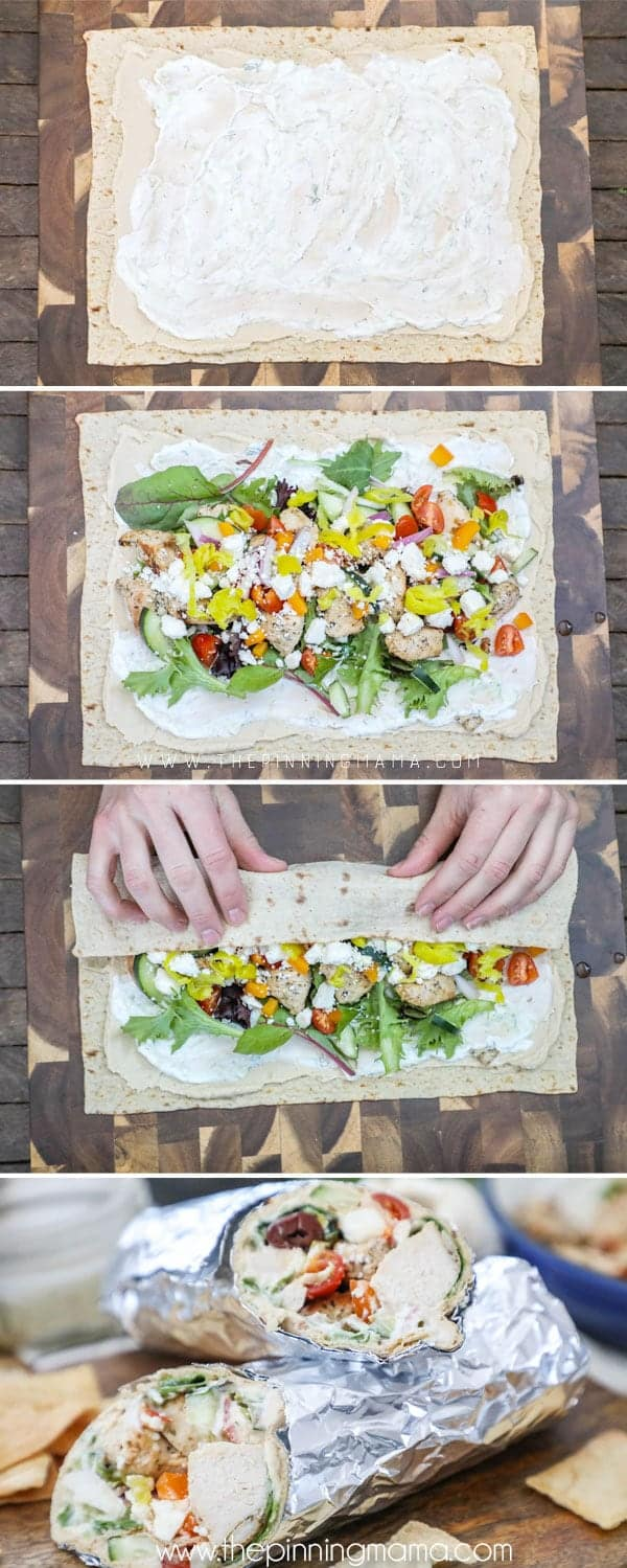 How to Make a greek chicken wrap