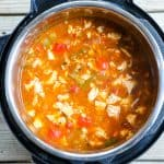 Chicken Fajita Soup Step 5: Serve warm with your choice of toppings