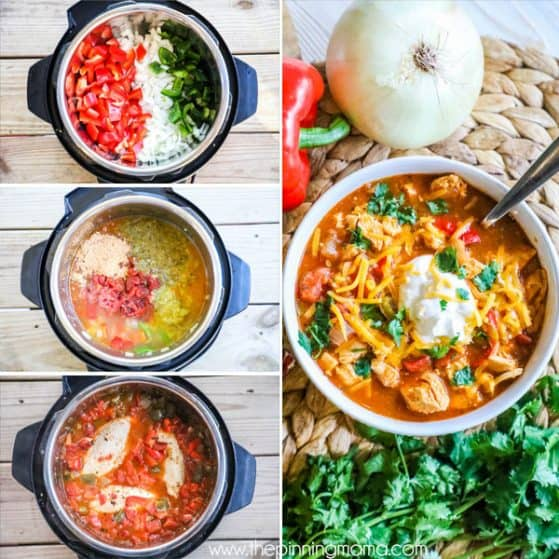 Easy Chicken Fajita Soup with just a few ingredients