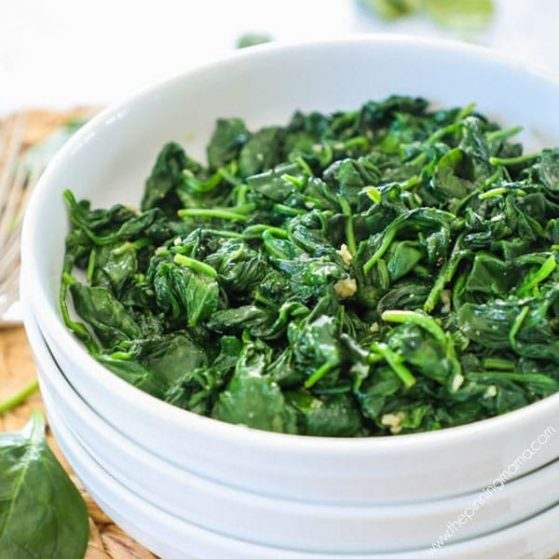 Delicious, quick , and easy sauteed spinach