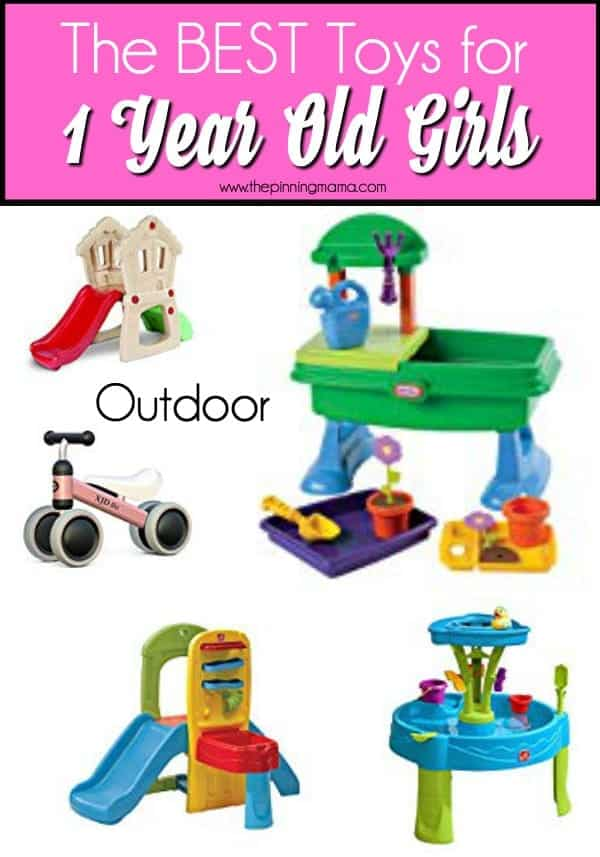 Outdoor toy ideas for 1 year old girls, perfect for birthday and Christmas.