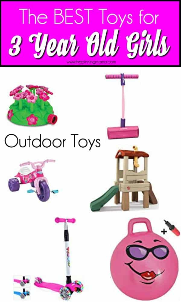 The BEST outdoor toys for 3 year old girls.