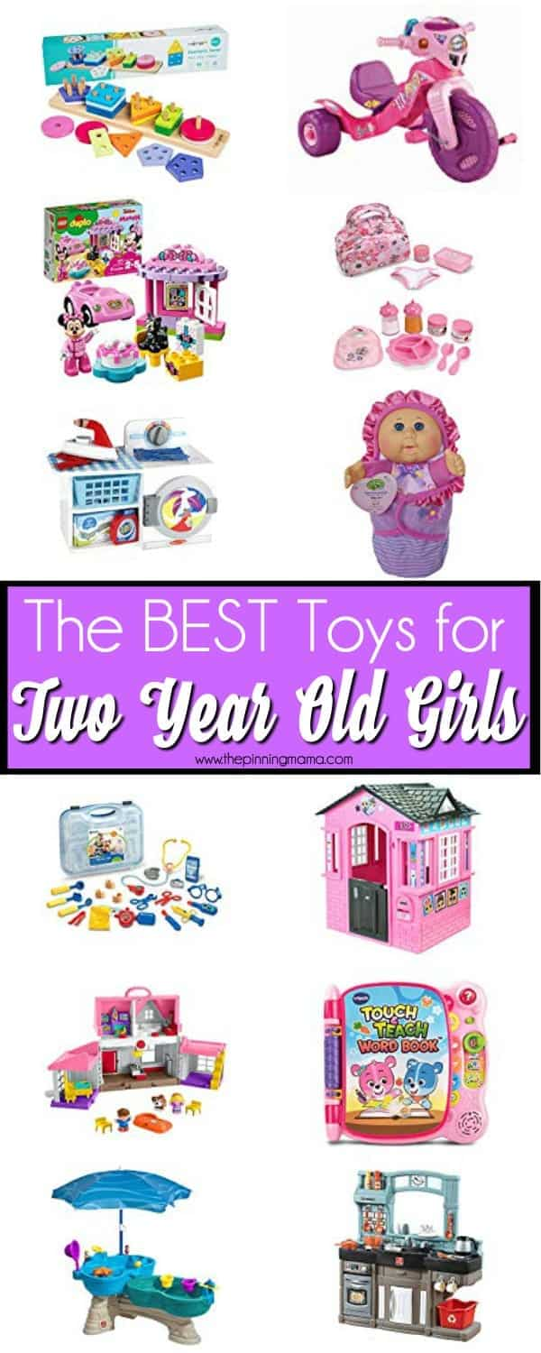 The BEST toys for 2 year old girls, perfect for birthdays or Christmas.