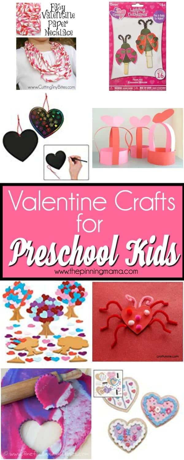 The Big List of Valentine Crafts for Preschool Aged Kids