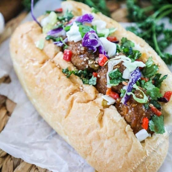 Recipe for Asian Meatball Subs