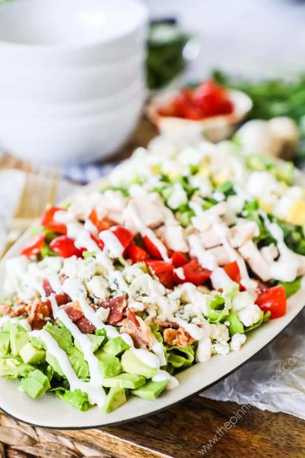 Cobb salad is perfect for lunch or dinner. This recipe is super easy and quick.