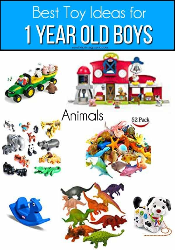 The best animal toy ideas for 1 year old boys.