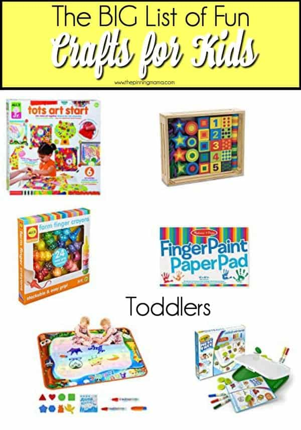 Fun and mess free crafts for Toddlers.
