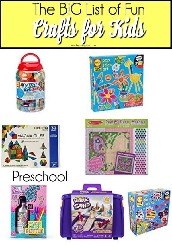Fun crafts for preschool aged kids.
