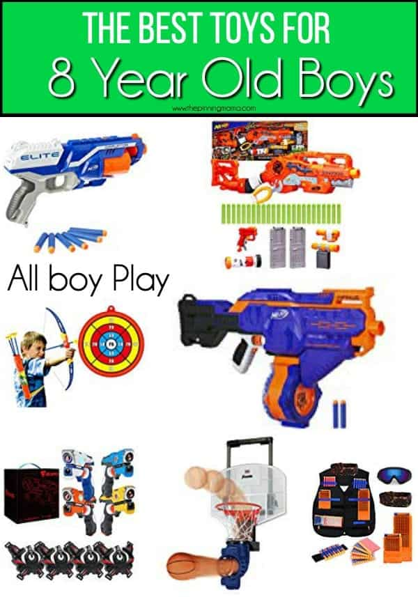 The BIG list of the BEST all boy play toys for 8 year old boys.
