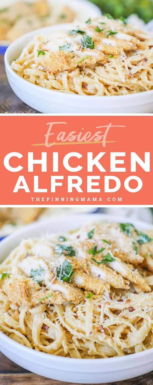 Creamy and delicious Chicken Alfredo.