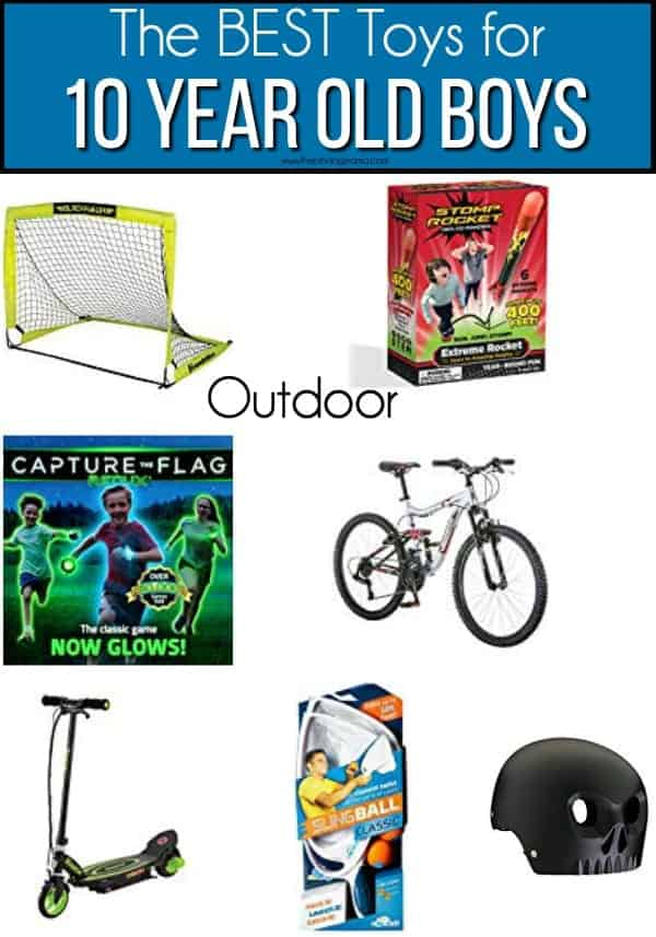 The BEST Outdoor toys ideas for 10 year old boys.