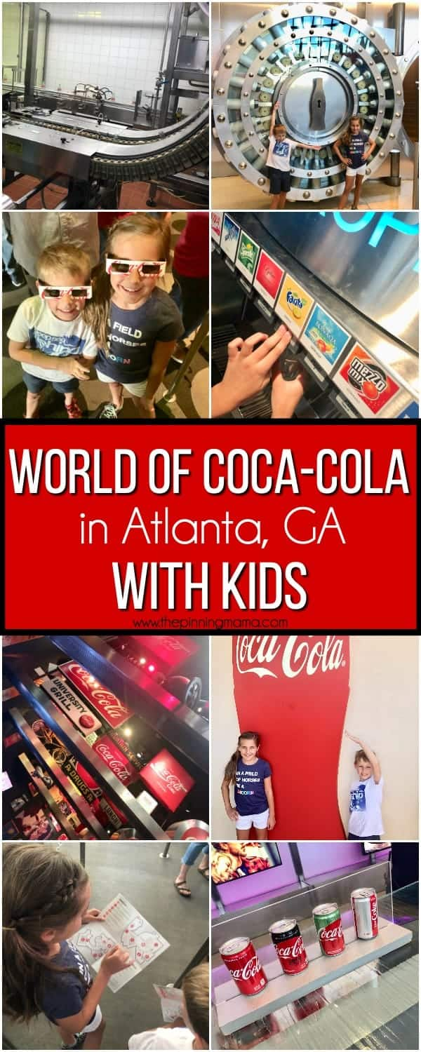 Things to do with kids at the world of coca-cola with kids.