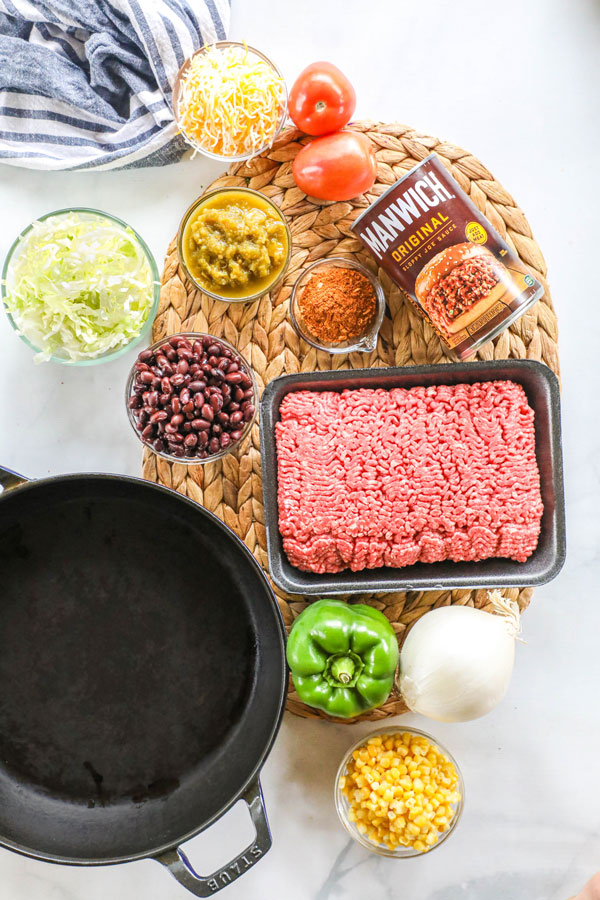 Ingredients for southwest sloppy joes