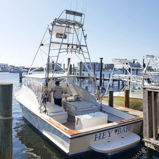 Hey Baby Private Fishing Charter boat Destin FL