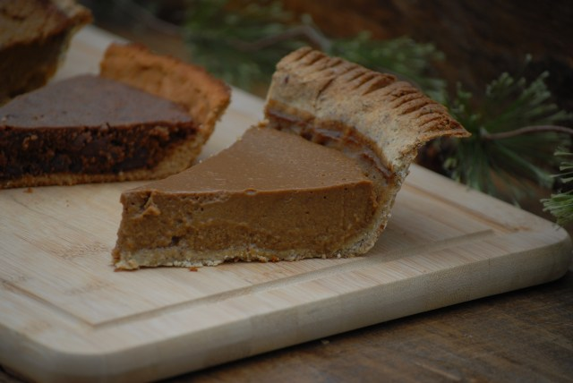 Grain-free Sweet Potato Pie- This grain-free sweet potato pie is also gluten free, corn free, and nut free. It is sure to rival pumpkin pie as the traditional fall pie!