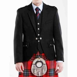 Black Argyll Jacket and Waistcoat