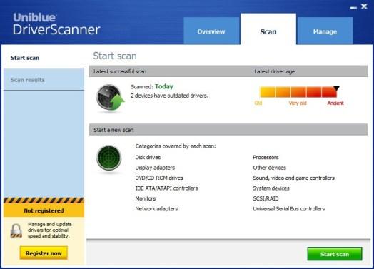 Uniblue DriverScanner crack download