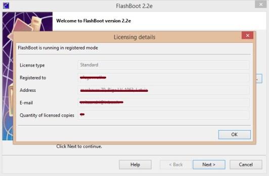 FlashBoot 2.2e license key
