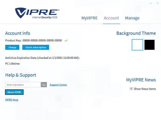 VIPRE Internet Security product key for free activation