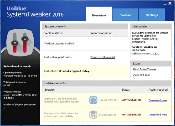 Uniblue System Tweaker crack download