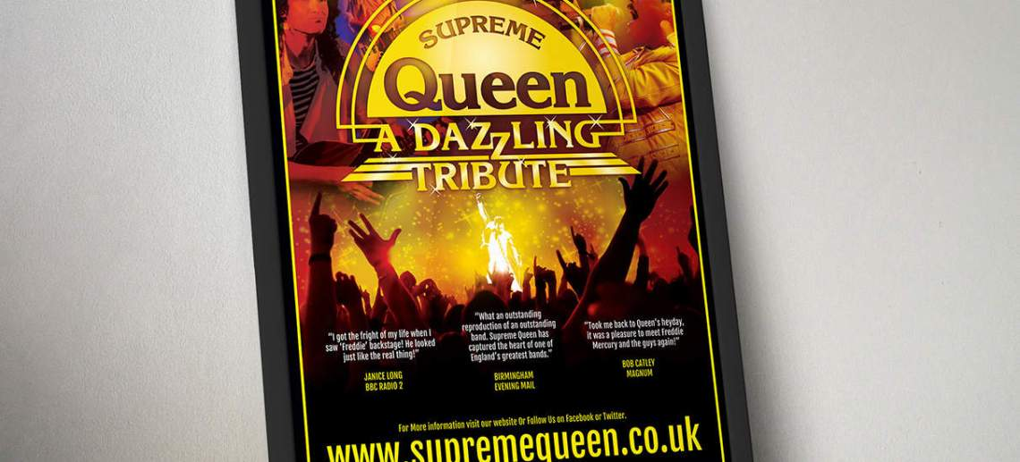 Tribute Band Poster Design For Supreme Queen