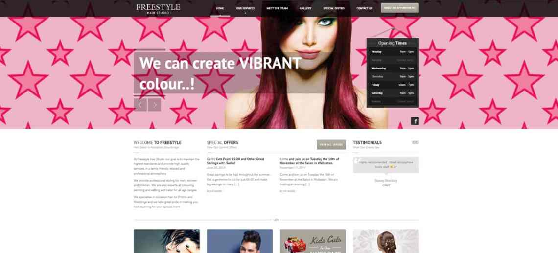 Hair Salon Website Design Stourbridge for Freestyle