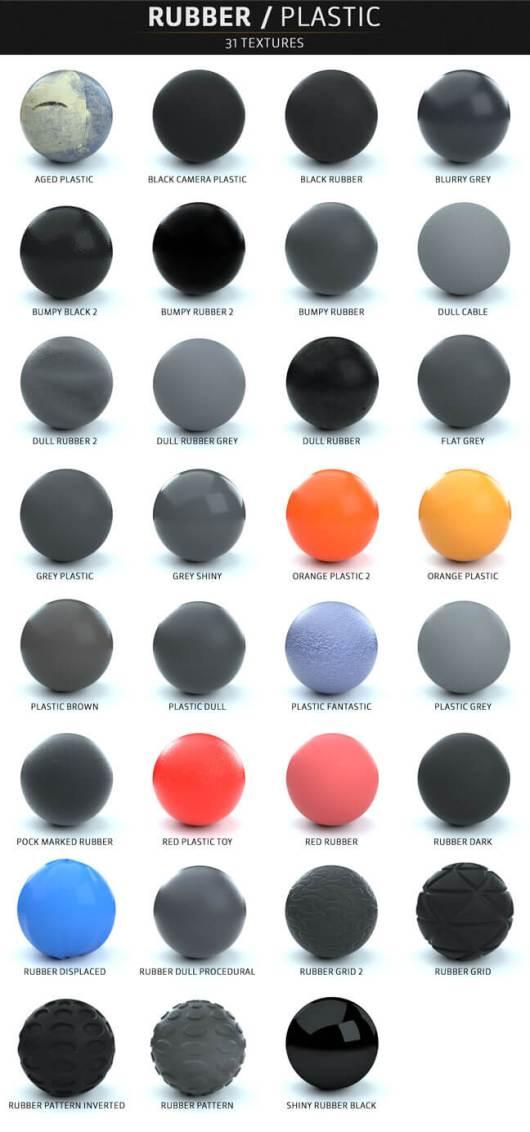 C4D-Otoy-Octane-Render-Material-Textures-Pack-Rubber-Plastic
