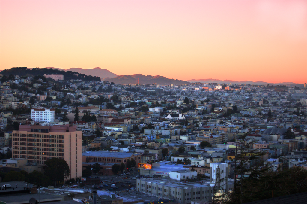 Mission District from Bernal Heights