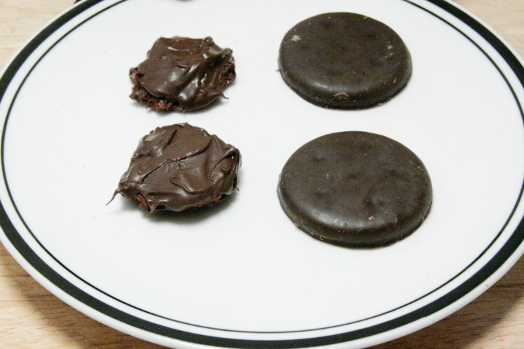 Girl Scout Oven Thin Mint Complete Closeup