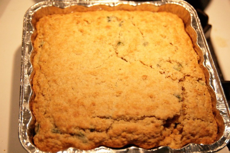 Kitty Litter Cornbread Pan Baked