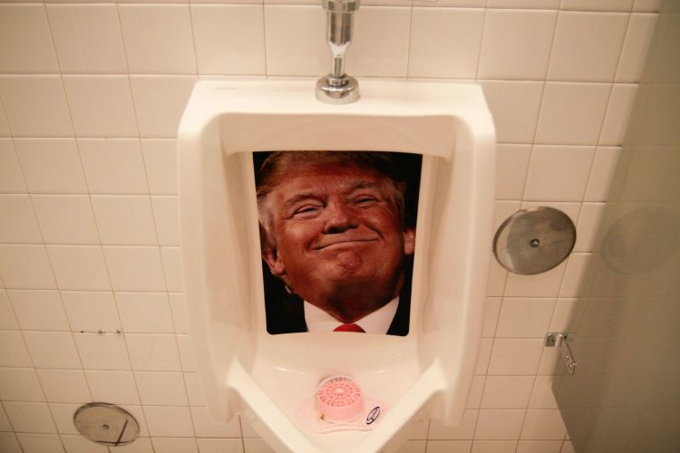Heart Attack Trump Urinal