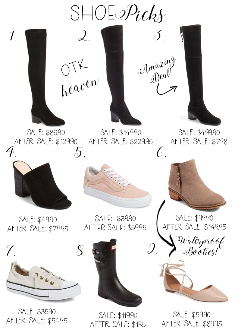 Savannah Jayne of The Plain Jayne shares her favorite shoe picks from the 2017 Nordstrom Anniversary Sale.